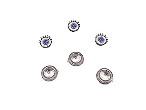 (Set of 3 Replacement Heads for Replacing Philips Norelco HQ6 Quadra Action Shavers)
