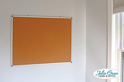 Large Cork Board 48 x 36 Inches | Silver Aluminium Frame Bulletin Board | Wall Mounted Notice Board | Full Warranty Photo #2