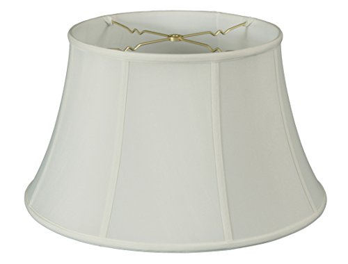 Silk Shade Lamp Table (Royal Designs Shallow Drum Bell Billiotte Lamp Shade - White - 13 x 19 x 11.26)