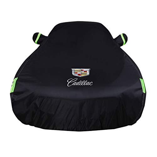 Car Cover is Compatible with Cadillac XLR Car Cover EXT Indoor and Outdoor All Weather Rain Sun Protection Car Clothes (Color : Black, Size : EXT)