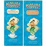Kauai Coffee, Variety Pack, Vanilla Macadamia Nut and Coconut Caramel Crunch, Ground Coffee, 10 Ounce Bag (Pack of 2)