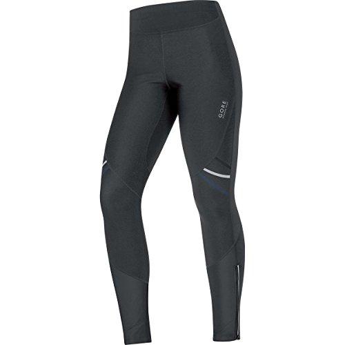 GORE RUNNING WEAR Damen Lange Warme Soft Shell Lauf-Leggings, GORE WINDSTOPPER, MYTHOS LADY 2.0 WS SO Tights, Größe 38, Schwarz, TWSMYL