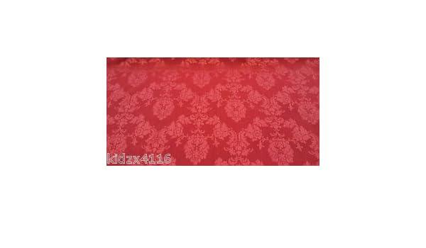Telas Online Uk Vino/Rojo Madagascar damasco brocado tela de tapicería de la cortina - venta de tela por metros: Amazon.es: Hogar