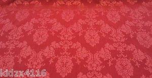 Telas Online Uk Vino/Rojo Madagascar damasco brocado tela de tapicería de la cortina -