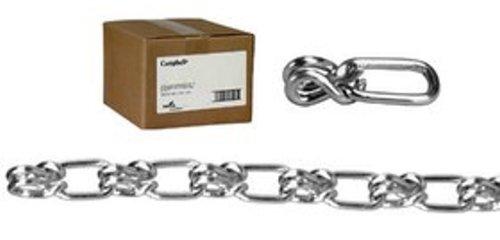 ASC MC1202042 Low Carbon Steel Lock Link Single Loop Chain, Galvanized, #2 Trade, 0.09'' Diameter x 200' Length, 155 lbs Working Load Limit