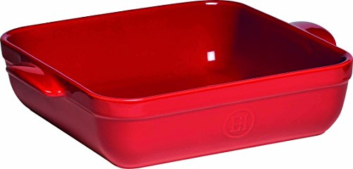 Emile Henry Made In France 10''x10'' Square Baking Dish, Burgundy Red by Emile Henry