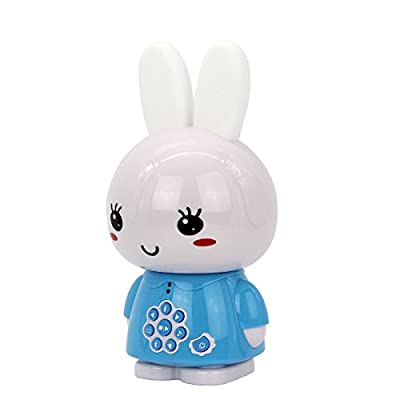 alilo G6+ Honey Bunny 8GB Children MP3 Player HiFi Bluetooth Music Speaker for Kids with LED Night Light Rechargeable Battery (Bilingual Blue): Toys & Games