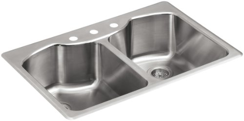 K 3842 3 NA Top Mount Double Equal Kitchen Stainless product image