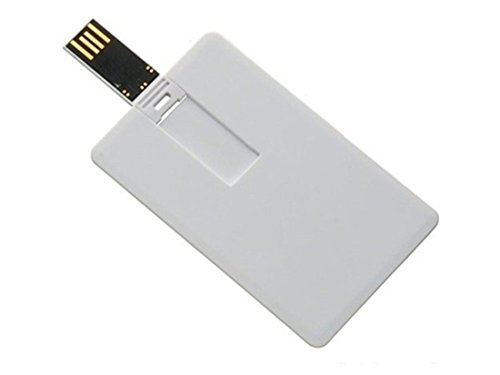 Aneew 64GB Pendrive White Bank Credit Card USB Flash Drive Memory Stick U Disk