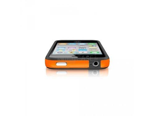 Semi Enterprises G4GADGET Schutzhülle für Apple iPhone 5/5S, aus Silikon, orangefarben / Schwarz