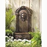 New Patio Ground Fountain Outdoor Water Garden Decor Lion Head Indoor Electric Feature Waterfall