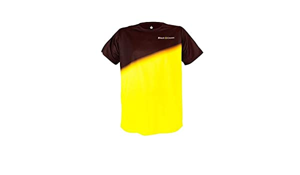 Black Crown Camiseta Tour Negro Amarillo: Amazon.es: Deportes y ...