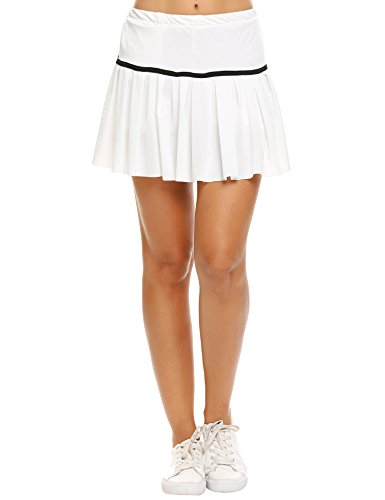 Zeagoo Women's Stretch Woven Pleated Tennis Skort -