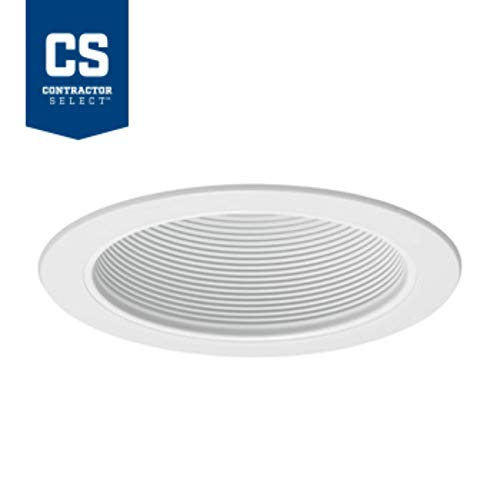 Juno Lighting V3024 WWH 6 Inch Conical Baffle Trim Round White ()