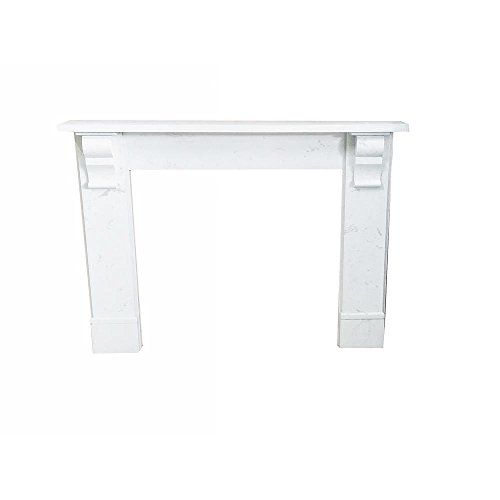 - nature and designs Edwardian 56 in. x 45 in. Calacatta Engineered Marble Mantel