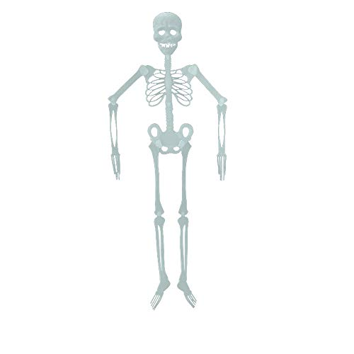 Fan-Ling Halloween Skeleton,Halloween Props, Luminous Human Skeleton,Outdoor Hanging Decoration Party, Best Halloween Decoration,Plastic Material (90CM)