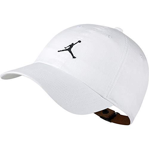 c5480c0a4e1 Jordan Men`s Air H86 Adjustable Leather Strap Washed Cap  (White(918447-100) Black