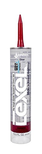 - Sashco Inc 13010 2 Pack 10.5 oz. Lexel Adhesive Caulk, Clear