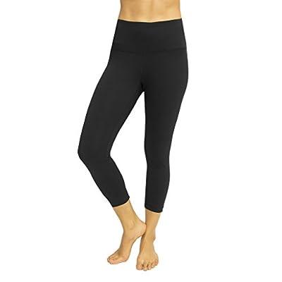 "Cheap Yogalicious 22"" High Waist Yoga Capris - Yoga Leggings - Yoga Capris for Women hot sale"