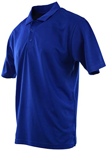 Mens Classic Cotton Pique Polo Shirts (Many Styles and Colors to Choose from) S up 5XL (M, 8844-Royal-DryComfort)