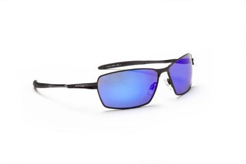 Optic Nerve Axel Sunglasses, Flash Black, Polarized Smoke with Blue Zaio - Sunglasses Nerve