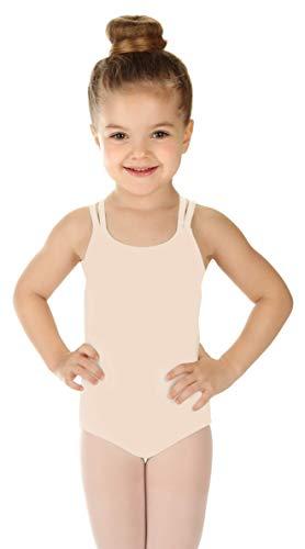 - Elowel Girls' Double Strap Camisole Leotard Nude Pink (size-8-10)