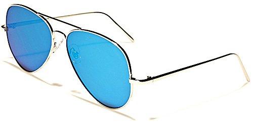 Lunettes Soleil Aviator Mode Fashion Moto Plage Cyclisme / Costa Vert Bleu Flat Lens Cyan