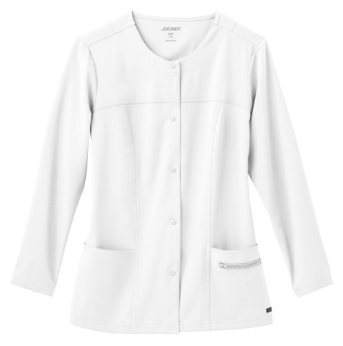 Modern Fit Collection by Jockey Scrubs Women's Snap Front Scrub Jacket XX-Small White