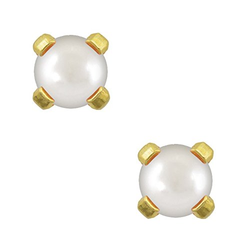 Studex Tiny Tips 3mm Pearl Gold Plated Childrens Hypo-allergenic Stud Earrings by Studex