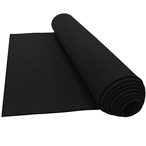 Neoprene Sponge Foam Rubber Sheet Rolls 15in x 60in (1/8in Thick)]()