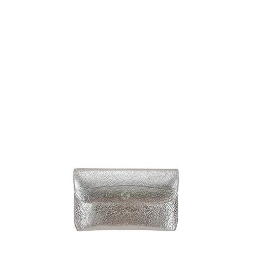Netta GION Leather Evening Grained Silver Bag Women d8wRwp