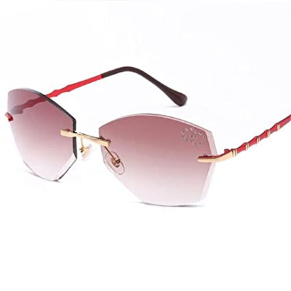 5a27c4bbb05 GGSSYY Gafas de Sol sin Montura cuadradas para Mujer Diseñador de la Marca  Gafas graduadas con