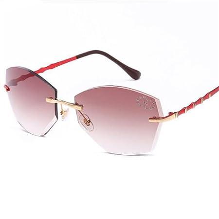 GGSSYY Gafas de Sol sin Montura cuadradas para Mujer ...