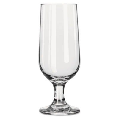 12 Oz Embassy (LIB3728 Embassy Footed Drink Glasses, Beer Glass, 12oz, 5 3/8quot;H, Clear)