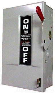 GE TG4324 4 Wire 3 Pole Fusible Type TG General-Duty Safety Switch 240 Volt 200 Amp NEMA 1 Spec-Setter™