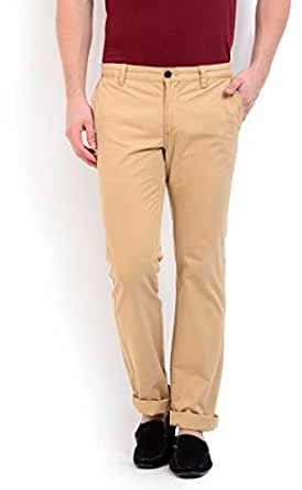 Terrain Beige Slim Fit Trousers Pant For Men