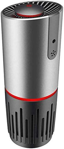Purificador de aire for el coche con True HEPA filtro, cambio de filtro Recordatorio, Pantalla LED Función de apagado, purificadores portátiles de polvo, los fumadores, polen, caspa de mascotas, la fi: Amazon.es: