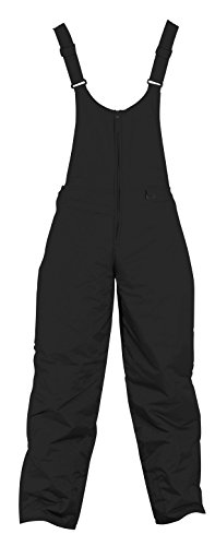 Whitestorm Insulated Men's Ski Bib Overall Winter Pants (Medium, Black) Premium Bib Overall