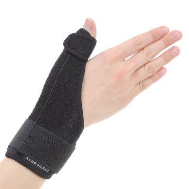 Cmc Thumb Support - Thumb Brace Support / tendonitis arthritis trigger thumb / right hand and left hand use / measure around wrist- fits 5.5 - 9.5 inches
