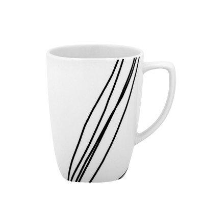 Corelle Square 12-Ounce Porcelain Mug, Simple - Oz 12 Corelle Mug Square
