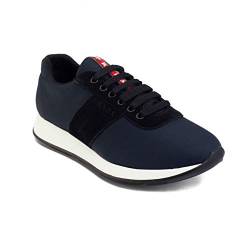 Prada Sneakers Suede - Prada Men's Suede Nylon Low-Top Sneaker Shoes Blue