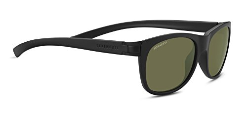 Serengeti Scala Sunglasses Sanded Black/Satin Black, Green by Serengeti