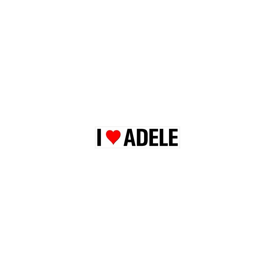 I Heart Love ADELE   Window Bumper Sticker