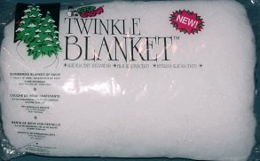 Artificial Soft Snow Polyester Flame Retardant Irridescent Strands Glimmering Twinkle Snow Blanket 1 Thick X 15 Wide Covers 10 to 12 Sq Ft Putnam Co. Inc