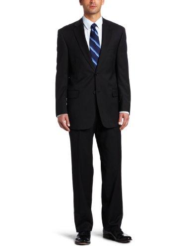 Austin Reed Men's Stripe Suit Separate Coat, Black Tonal, 41 ()