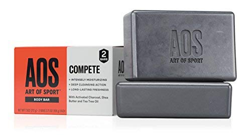 Art of Sport Body Bar Soap (2-Pack), Compete Scent, with Activated Charcoal, Tea Tree Oil, and Shea Butter, 3.75 oz