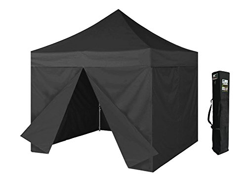 Eurmax 10×10 Ez Pop up 4 Wall Canopy Instant Party Tent Portable Outdoor Canopy with 4 Removable Zipper End Side Walls with Carry Bag