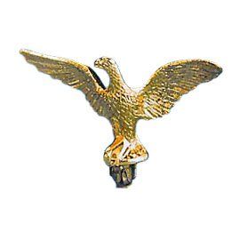 (Eagle Top Ornament 5 Inch (Perched) Metal Gold Slip Fit For 3/4 Inch diameter pole)