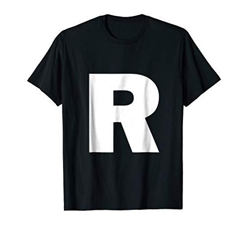 Letter R Tshirt Alphabet Shirt Capital Initial Spell -