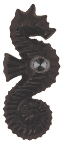 Waterwood Solid Brass Seahorse Doorbell in Black